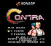 Contra Nintendo NES game title screen image pic