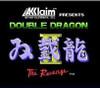 Double Dragon II NES Game title screen