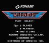 Gradius Nintendo NES Game title screen image