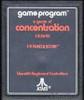 Concentration - Atari 2600 Game