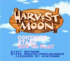 Harvest Moon - SNES Game Title Screen
