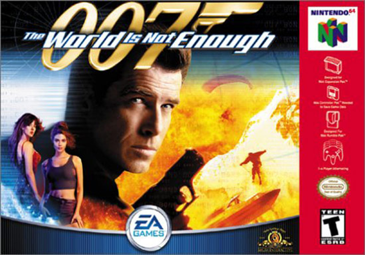 007 The World Is Not Enough Grey Nintendo 64 N64 Game
