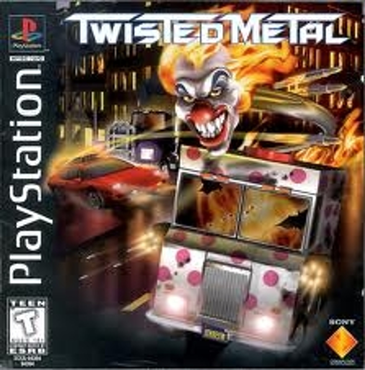 Twisted Metal Playstation 1995, capa do jogo!