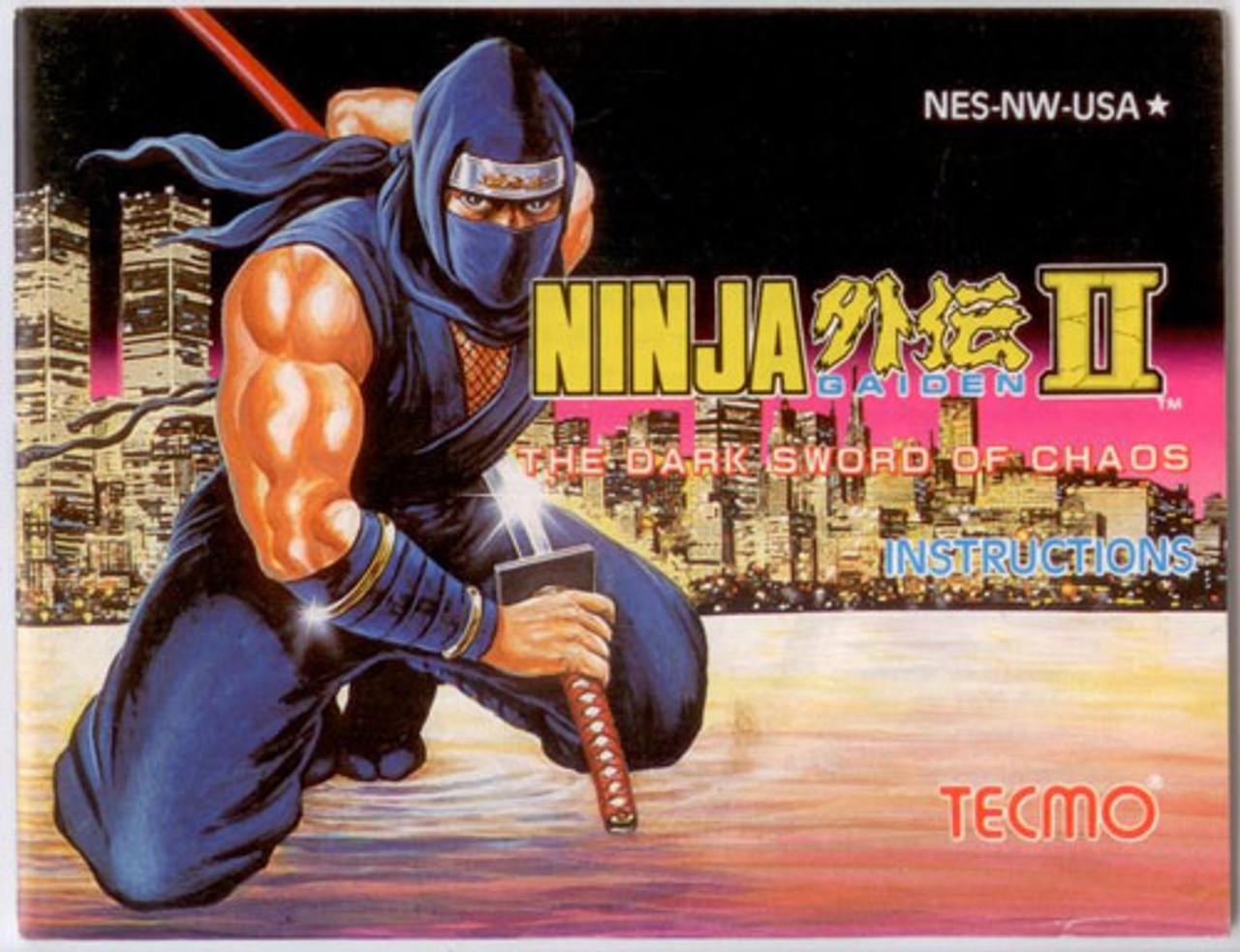 Manual Ninja Gaiden Ii2 Nintendo Nes Instructions For Sale Dkoldies