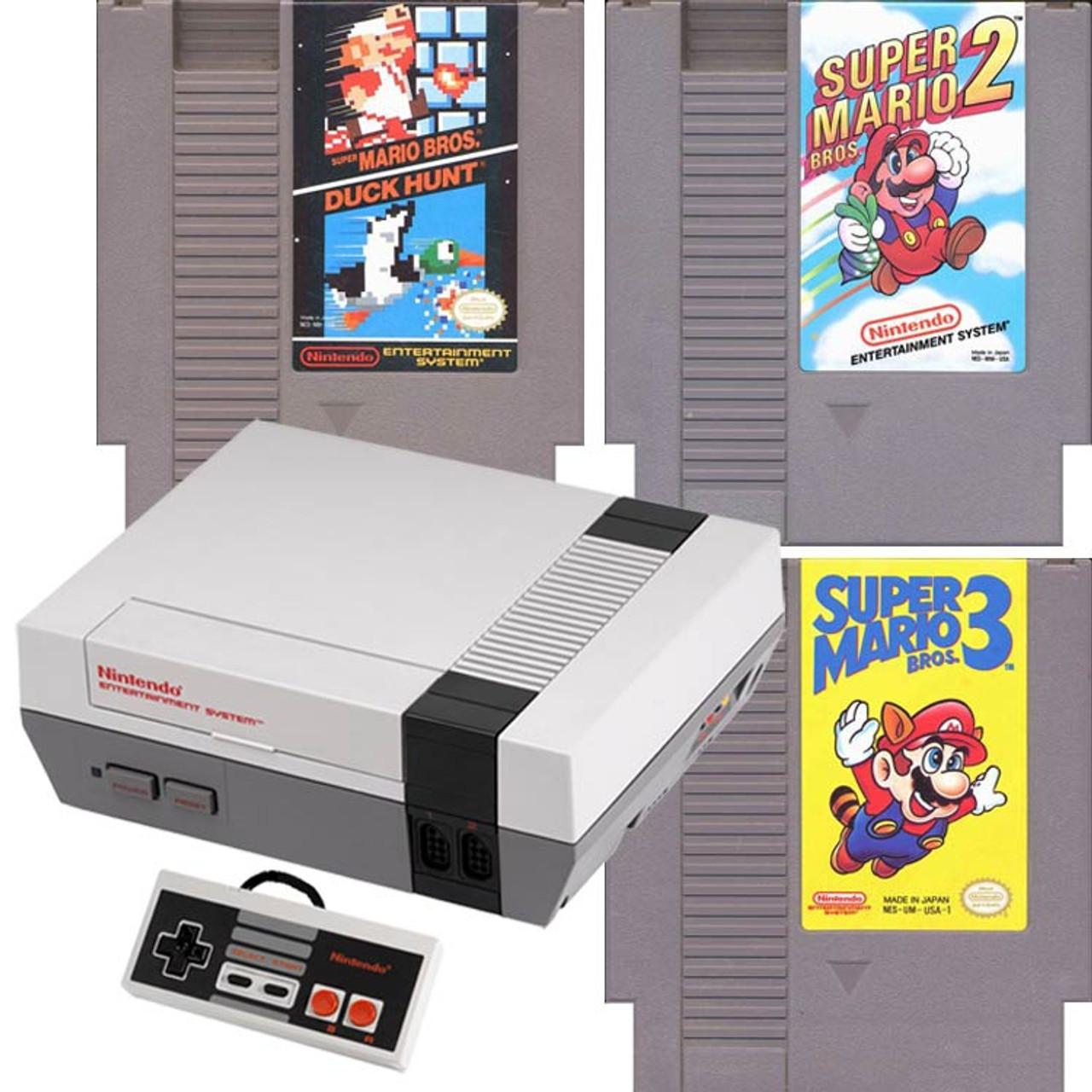 Original Nintendo Nes System Console Mario 123 Game For Sale