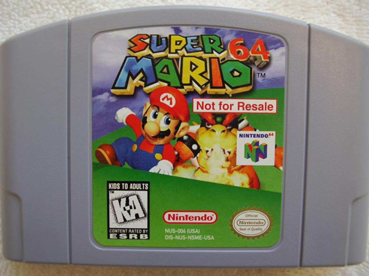 Not For Resale Super Mario 64 - N64 Game