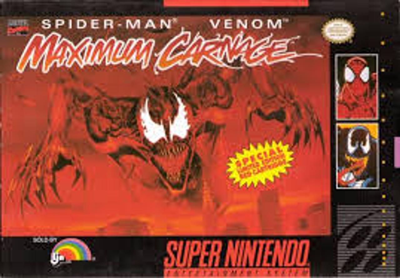 Spider Man Venom Maximum Carnage Complete Snes Game For Sale