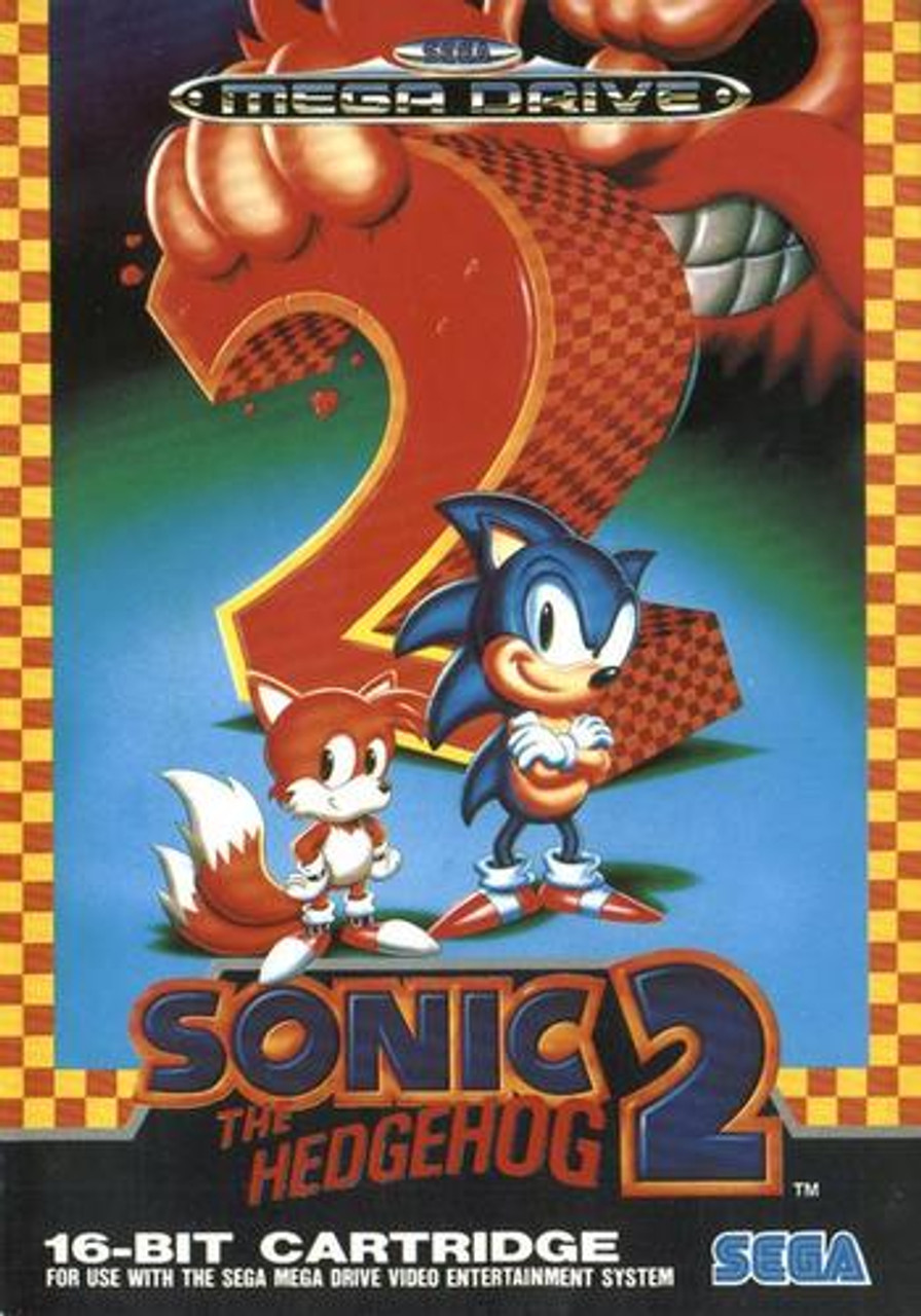 Sonic The Hedgehog 2 Bit Cover Genesis Complete Game For Sale