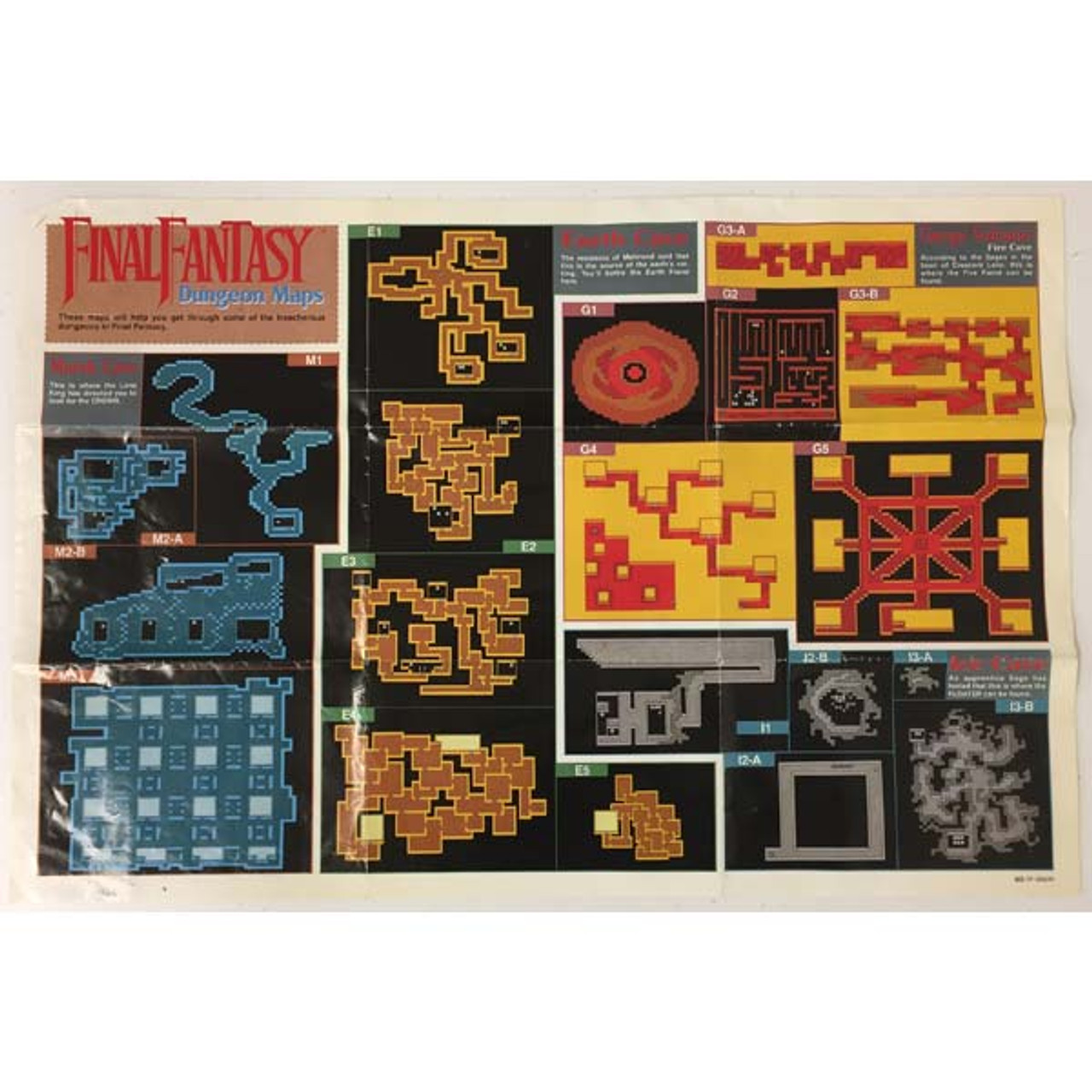 Original Final Fantasy Dungeons Map NES For Sale | DKOldies