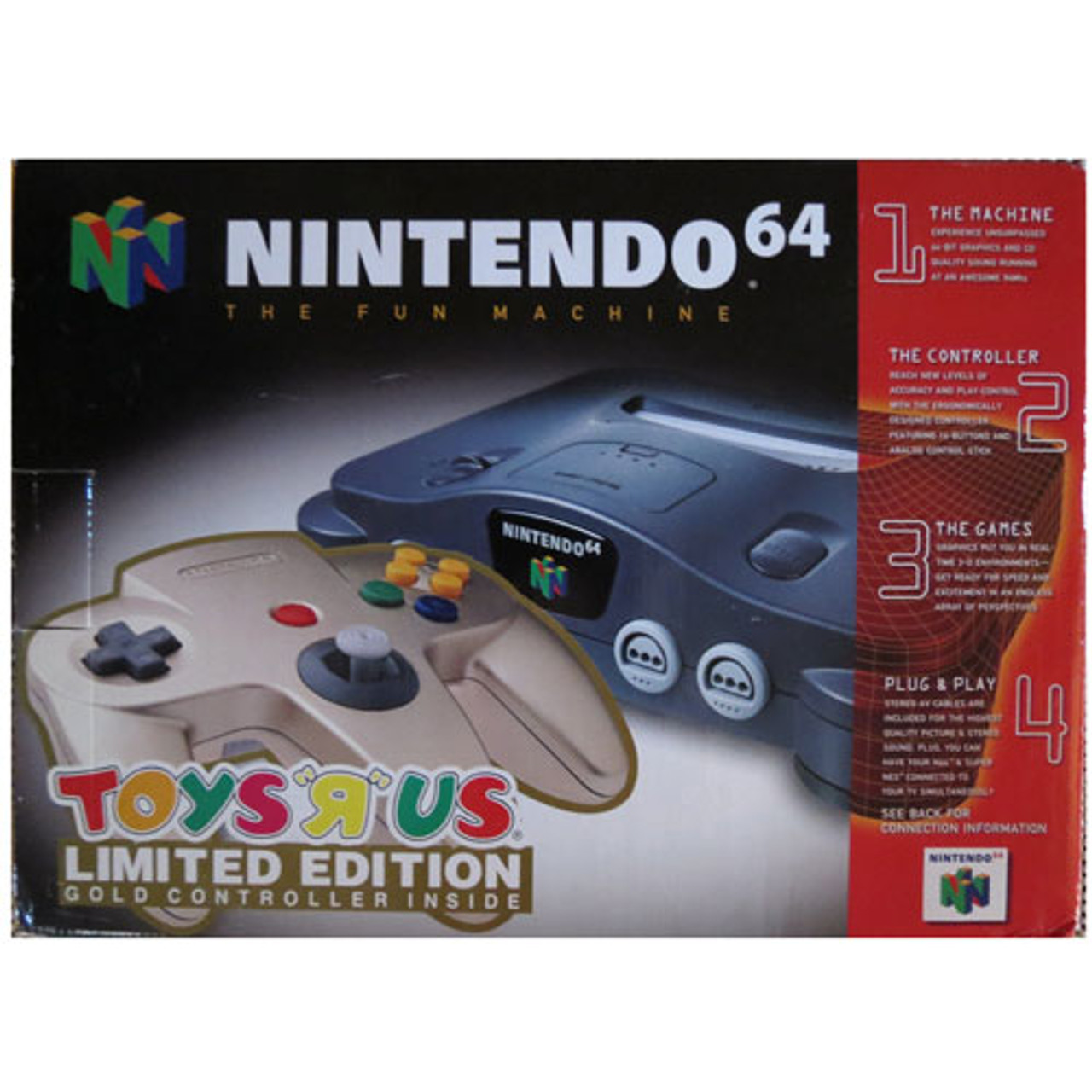 Complete N64 System with Toys R Us Limited Edition Gold Controller