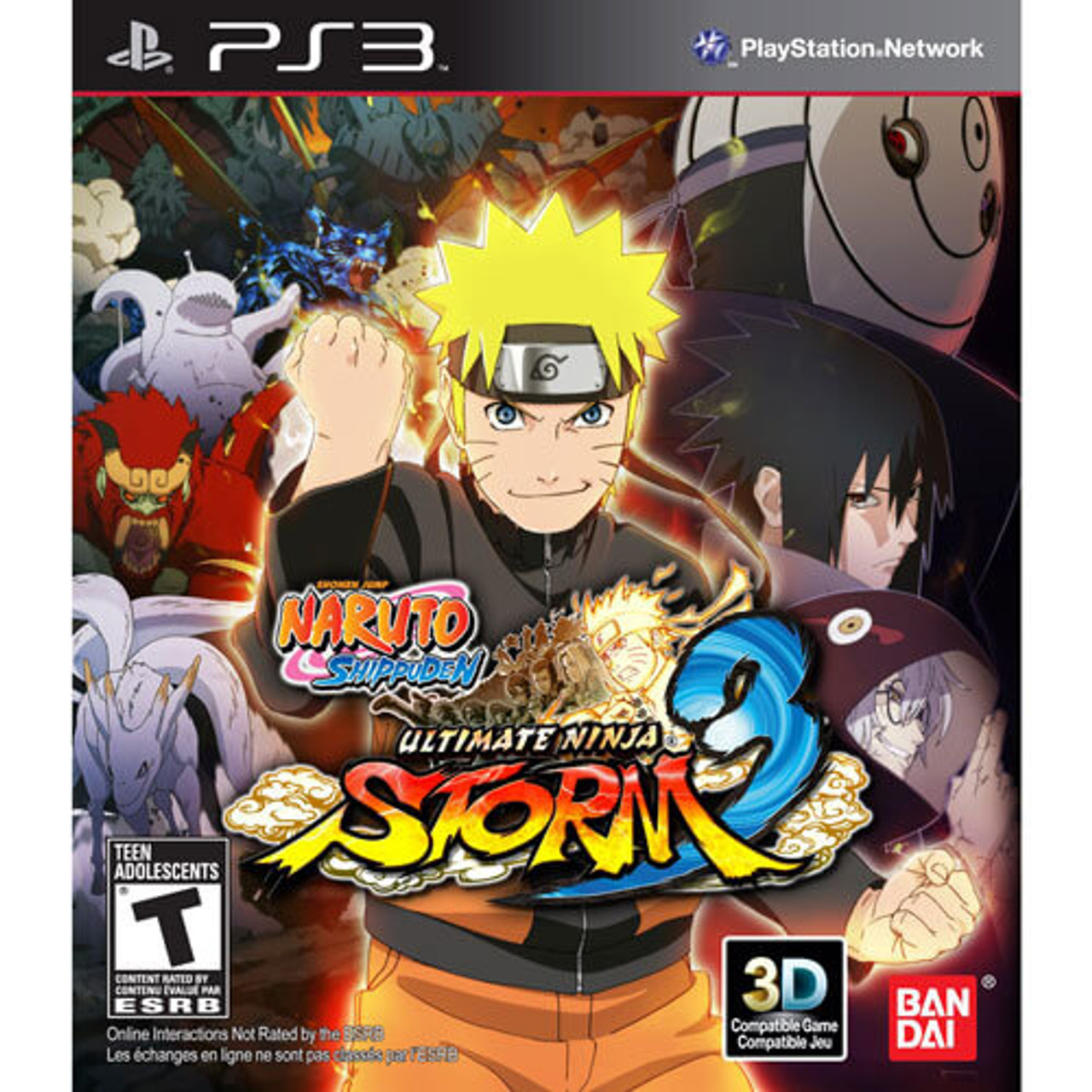Naruto shippuden ultimate ninja storm 3 playstation 3 ps3 game sale