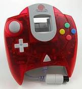 Original Controller Clear Red - Dreamcast