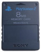 PS2 Original Memory Card 8mb Black - Playstation 2 (PS3)