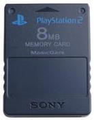 PS2 Original Memory Card 8mb Black - Playstation 2 (PS3)