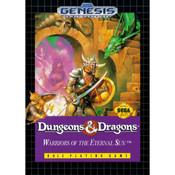 Dungeons & Dragons Warriors Eternal Sun Empty Box For Sega Genesis