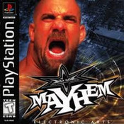 Complete WCW Mayhem - PS1 Game