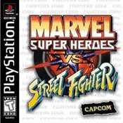 Complete Marvel Super Heroes Vs. Street Fighter - PS1 Game