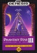 Phantasy Star III - Genesis Game Box Cover
