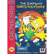 Simpsons Bart's Nightmare Complete Game For Sega Genesis