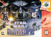 Star Wars Shadows of The Empire Nintendo 64 N64 video game box art image pic
