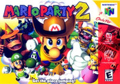 Mario Party 2 Nintendo 64 N64 video game box art image pic