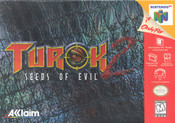 Turok 2 Seeds of Evil Nintendo 64 N64 video game box art image pic