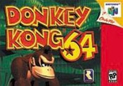 Donkey Kong 64 Nintendo 64 N64 video game box art image pic
