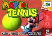 Mario Tennis Nintendo 64 N64 video game box art image pic