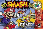 Super Smash Bros. Nintendo 64 N64 video game box art image pic