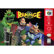 Rampage World Tour Video Game For Nintendo N64