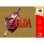 Legend of Zelda Ocarina of Time Nintendo 64 N64 video game box art image pic