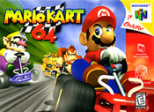 Mario Kart 64 Nintendo 64 N64 video game box art image pic