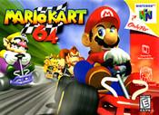 Mario Kart 64 Nintendo 64 N64 video game box art image pic
