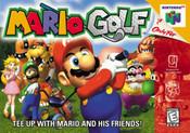 Mario Golf Nintendo 64 N64 game box image pic