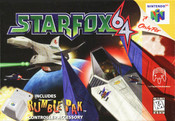 Star Fox 64 Nintendo 64 N64 video game box art image pic