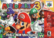 Mario Party 3 Nintendo 64 N64 video game box art image pic