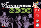 Wrestlemania 2000 Nintendo 64 N64 video game box art image pic