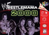 Wrestlemania 2000 Nintendo 64 N64 video game box art image pic