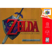 Legend of Zelda Ocarina of Time Gold Nintendo 64 N64 used video game in box for sale online.