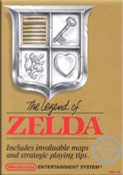 Legend of Zelda Gold Nintendo NES game box image pic