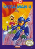 Mega Man 4 Nintendo NES video game box art image pic
