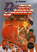 Double Dribble Baseketball NBA Nintendo NES game box art image pic