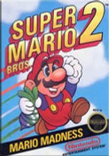 Super Mario Bros. 2 Nintendo NES game box image