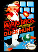 Super Mario/Duck Hunt Nintendo NES video game game box for sale.