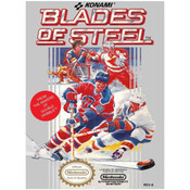 Blades of Steel NHL Hockey Nintendo NES game box image pic