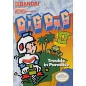 Dig Dug II Video Game For Nintendo NES