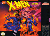 X-men Mutant Apocalypse Super Nintendo SNES video game for sale , box pic.