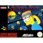Virtual Bart Video Game For Nintendo SNES