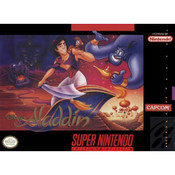 Aladdin, Disney's - SNES Game box cover