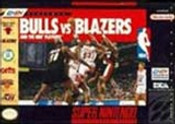 Bulls Vs. Blazers NBA Basketball - SNES Game